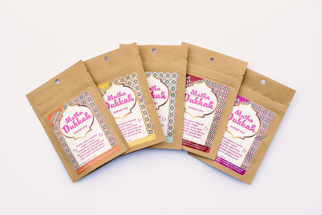 Sampler pack - all 5 dukkah flavours - sweet and savoury