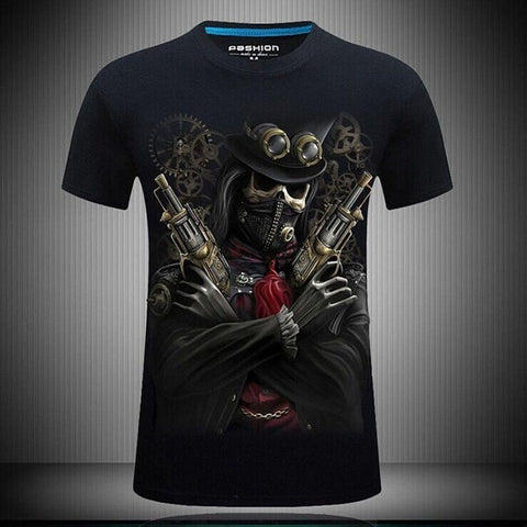 T-shirt tête de mort bandit steampunk - Sons Of Skull