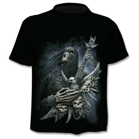 T-shirt tête de mort punk guitariste - Sons Of Skull