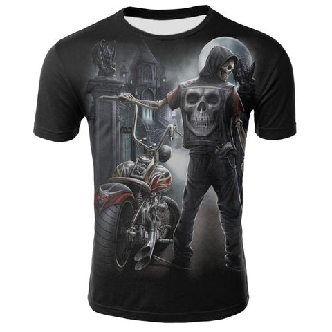 T-shirt tete de mort moto - Sons Of Skull