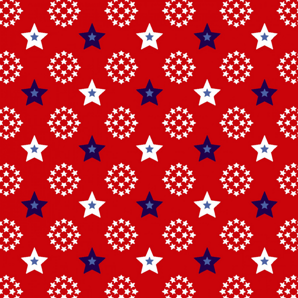 Red, White, & Starry Blue - Stars Red | 3986-88
