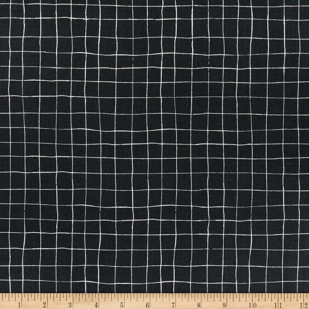 Scaredy Cat - Grid Charcoal | C9416-CHARCOAL