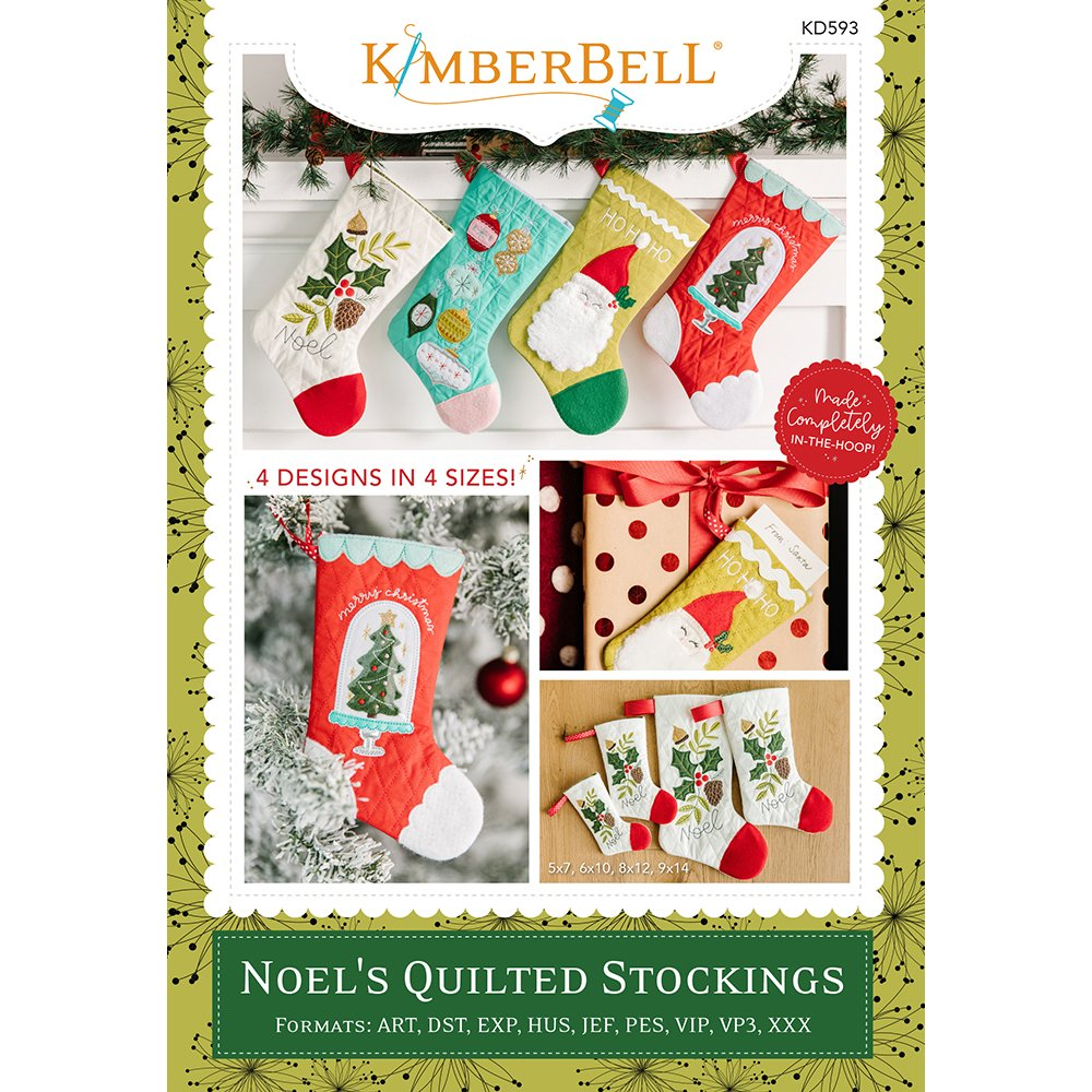 Kimberbell Designs |  Noel's Quilted Stockings