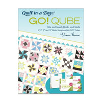 GO! Qube Mix & Match Blocks and Quilts Pattern Book by Eleanor Burns-2nd Edition