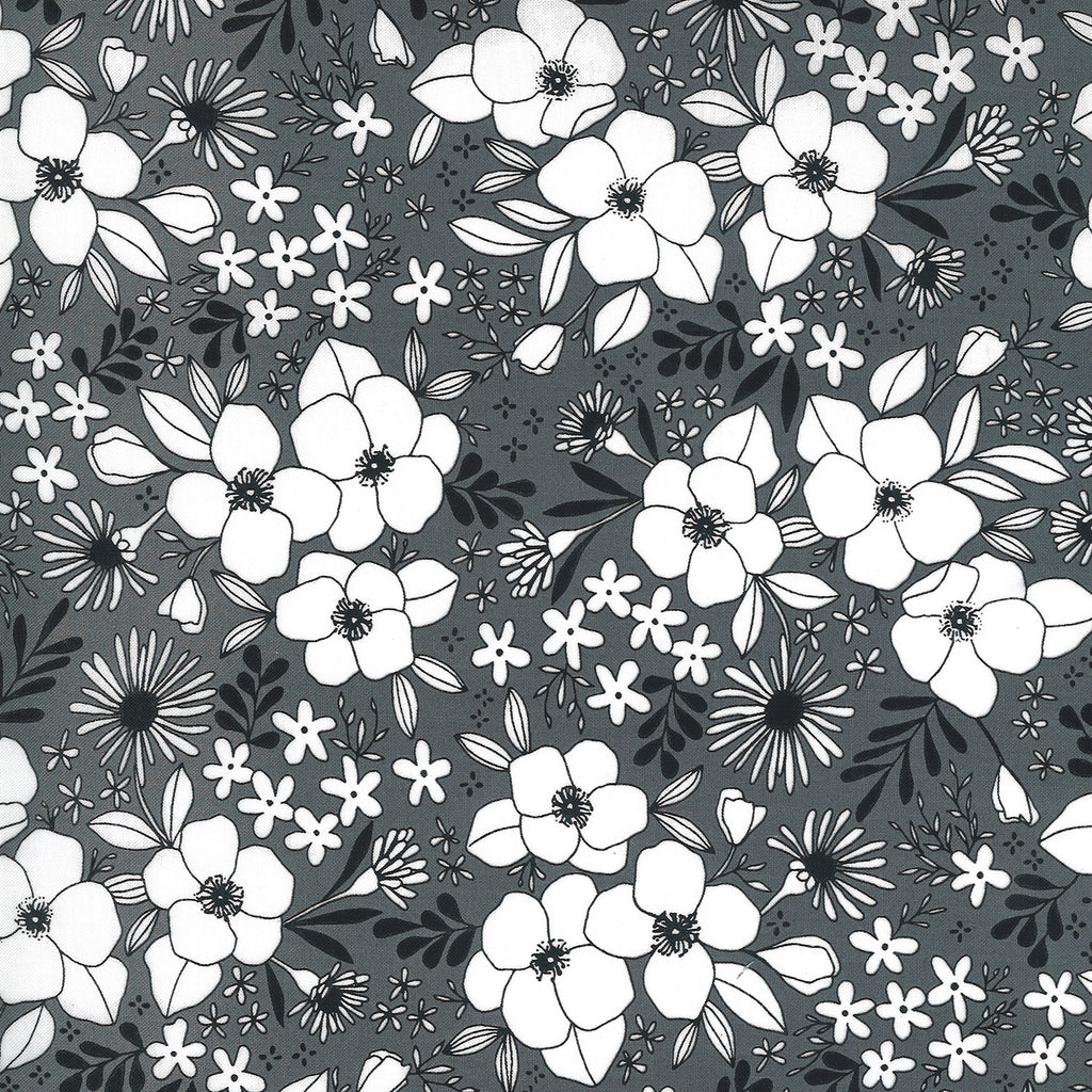 Illustrations - Medium Floral Graphite | 11503-14