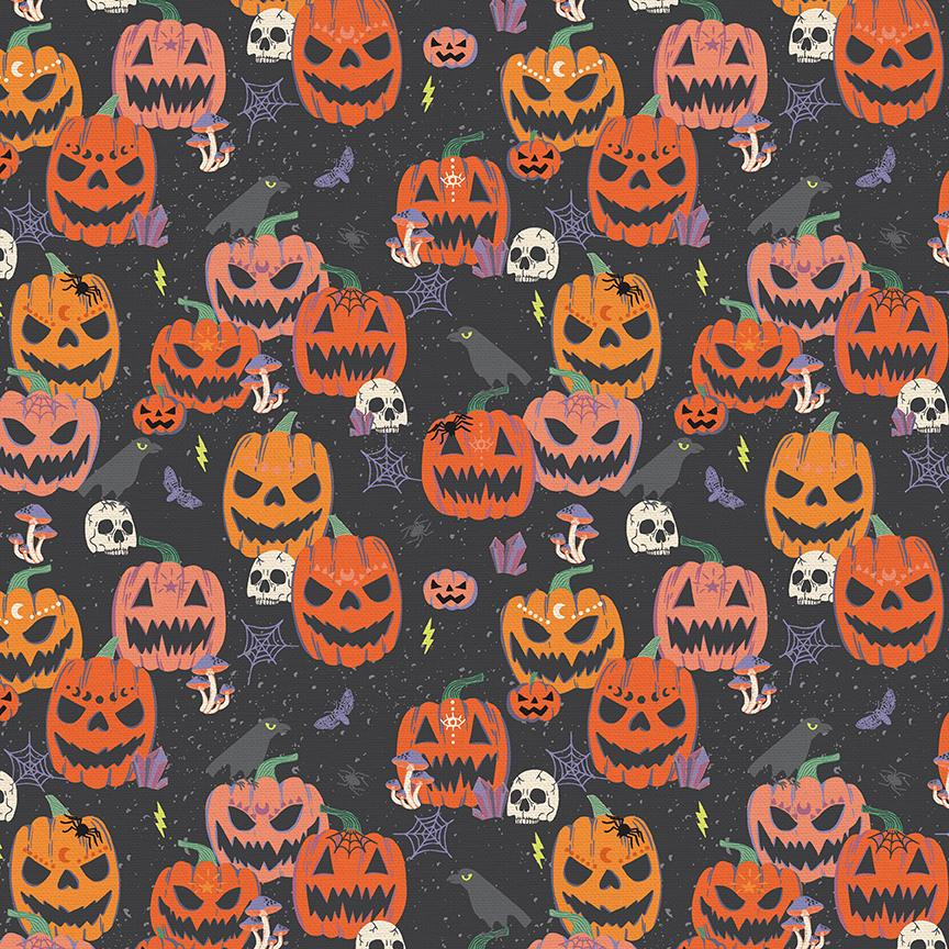 Mystical Halloween - Scary Pumpkin Black | 120-21799
