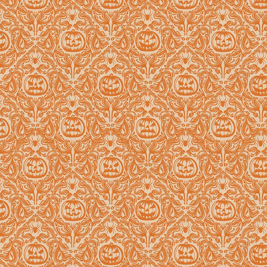 Mystical Halloween - Pumpkin Floral Orange | 120-21800