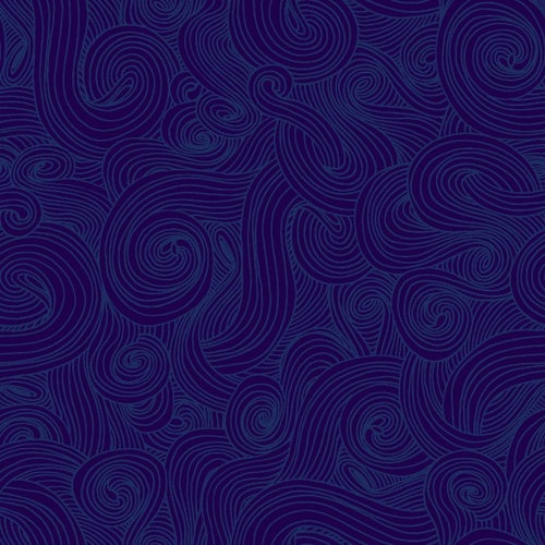 Just Color! - Swirl Navy | 1351-NAVY