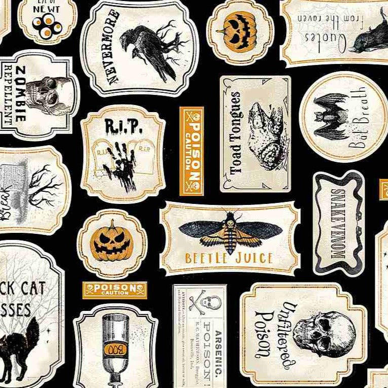 Gail - Antique Halloween Signs Black | C7785