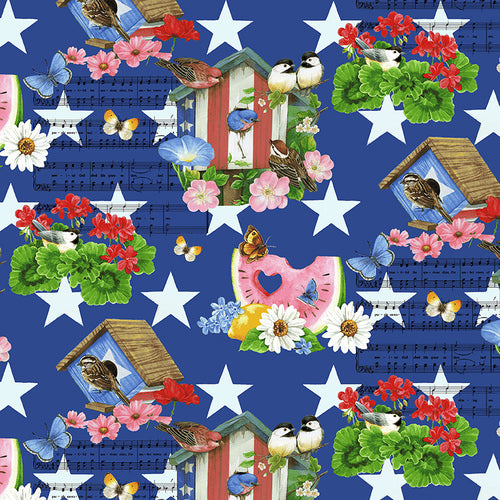 America the Beautiful - Birdhouses Blue/Multi | 1461-78