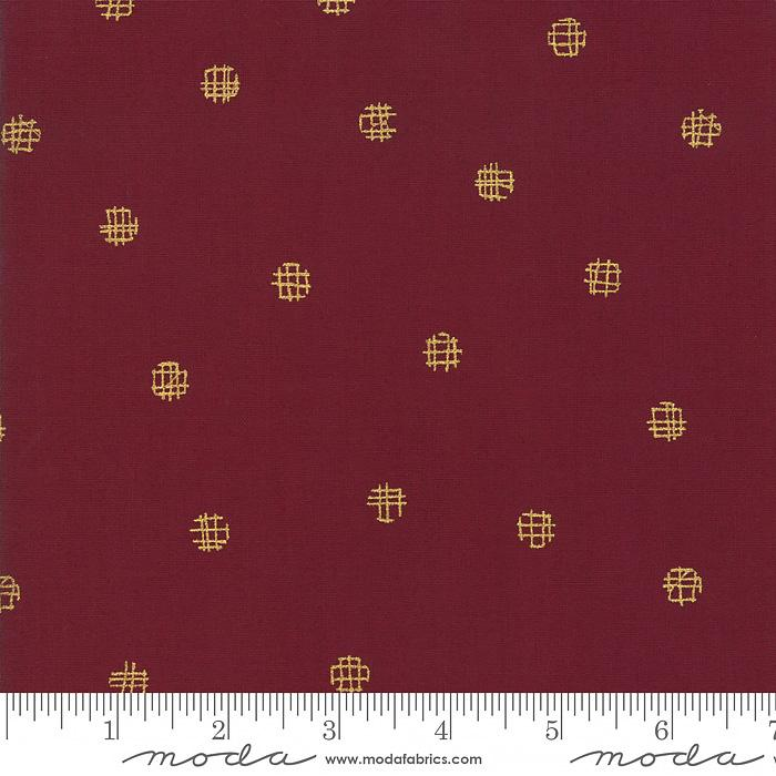Just Red - Cross My Dots Merlot Metallic | 1704-17M
