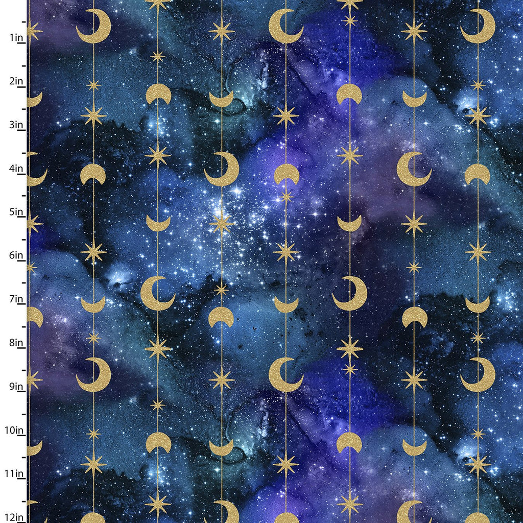 Magical Galaxy - Stars & Moon Metallic Multi | 17163-MLT