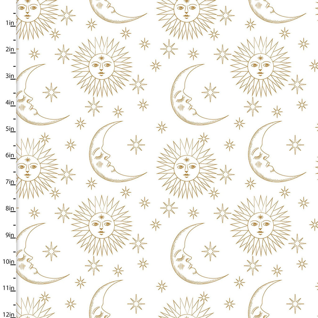 Magical Galaxy - Sun & Moon Metallic White | 17164-WHT