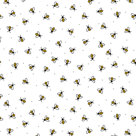 All The Buzz - Bees White | 1649-27611-Z