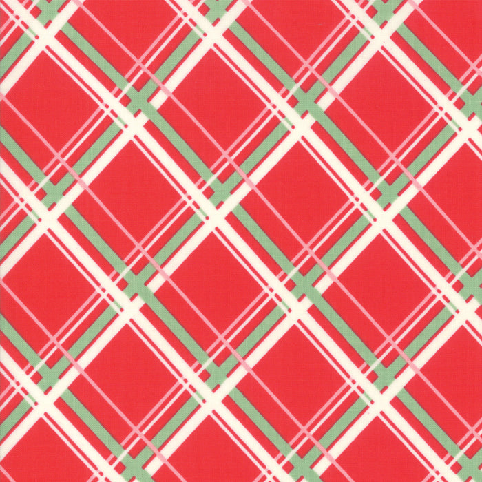 Deer Christmas - Plaid Peppermint | 31162-12