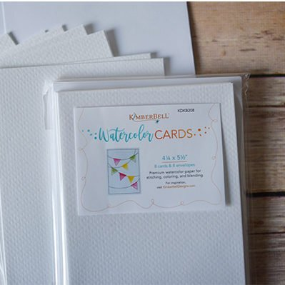 Kimberbell Designs | Premium Watercolor Cards/Envelopes (Set of 8) 4 ¼ x 5 ½""