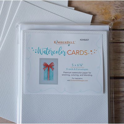 Kimberbell Designs | Premium Watercolor Cards/Envelopes (Set of 8) 5 x 6 ⅞""