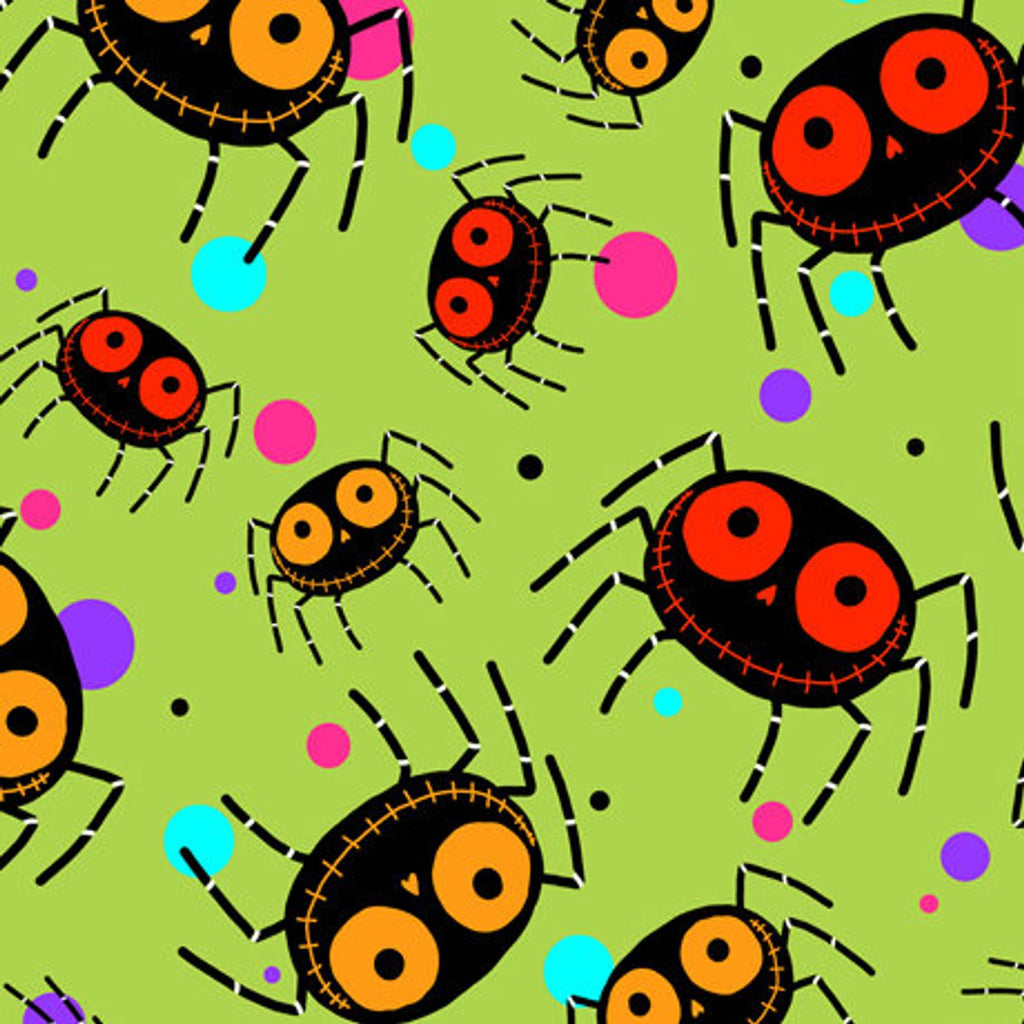 Creepy Halloweenies - Lime Spiders | 1649-27109-H