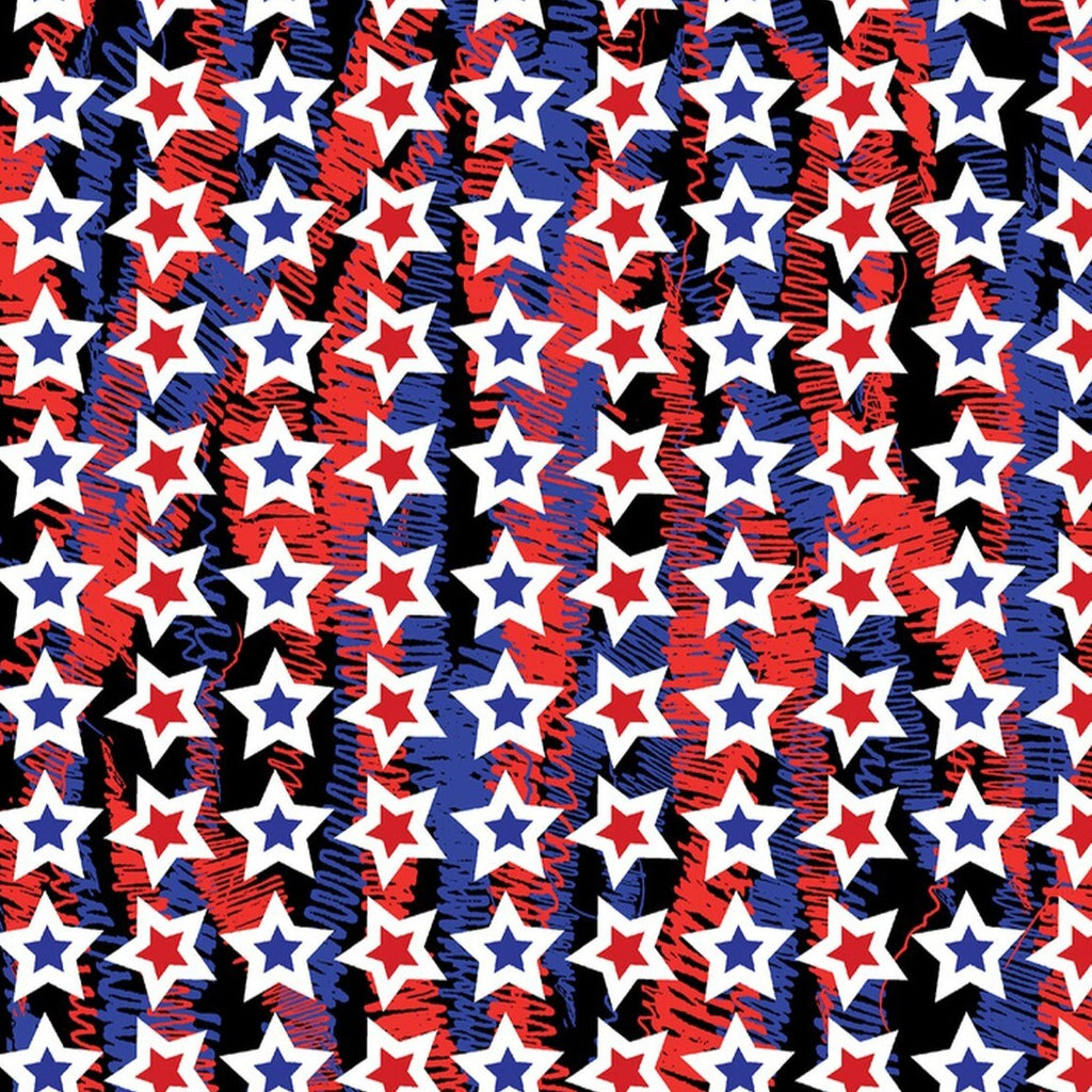 Star Spangled - Confetti Stars Red/Blue | 7762P-86