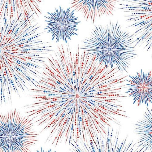 Star Spangled - Fireworks Shimmer White Metallic | 7756P-60