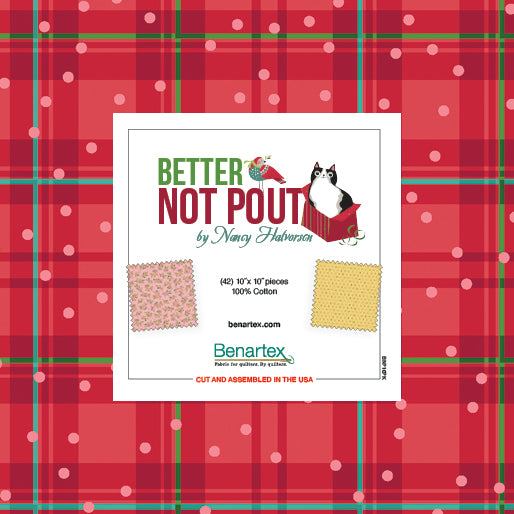 "Better Not Pout - 10"" Squares 