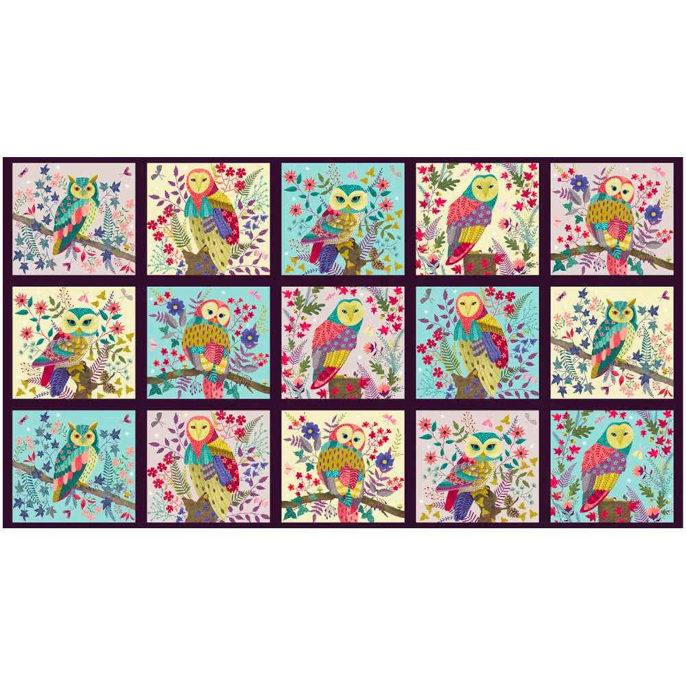 Owl Prowl - Owl Blocks Panel Digital | 1137-11