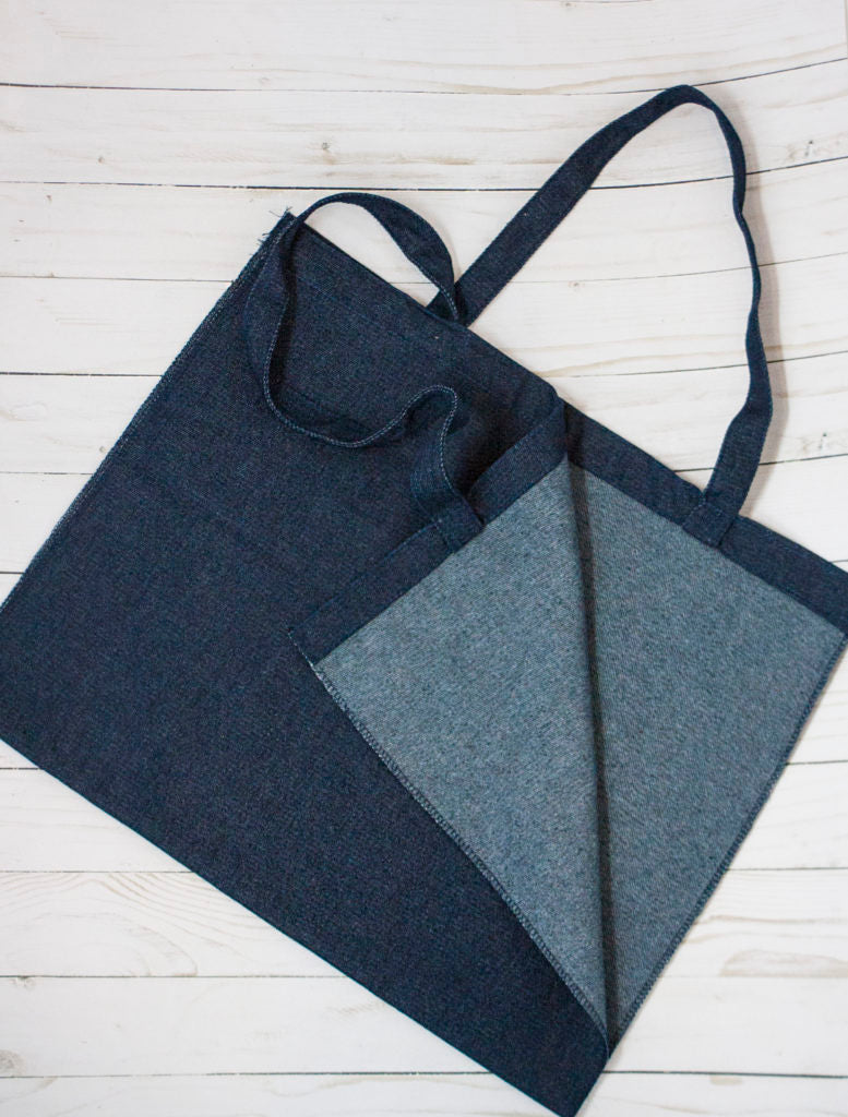 Kimberbell Designs | Denim Tote - 17″x15″ Open Seamed