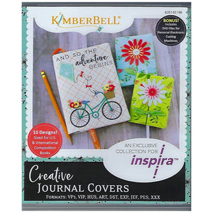 Kimberbell Designs | Creative Journal Covers - Machine Embroidery