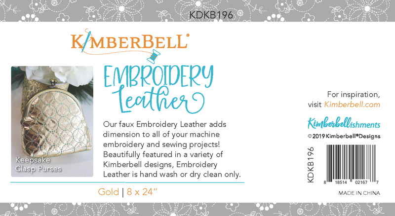 Kimberbell Designs | Embroidery Leather - Gold