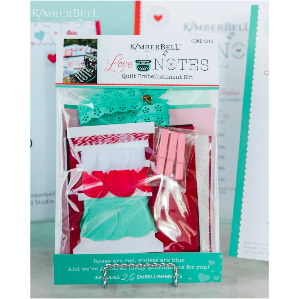 Kimberbell Designs | Love Notes Quilt - Embellishment Kit