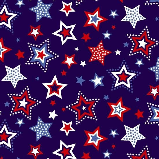 Red, White, & Starry Blue - Stars Blue | 3982-77
