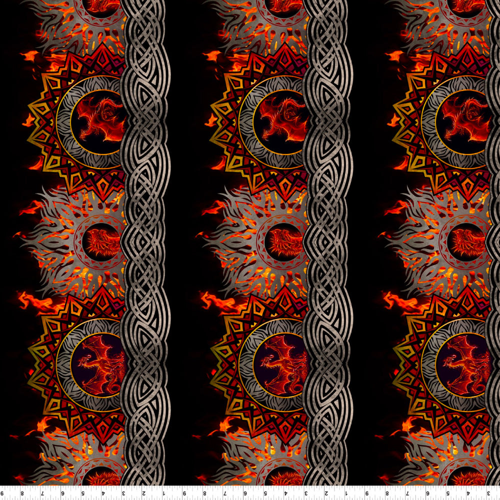 Dragons - Flame Border Red/Black | 3DRG-1