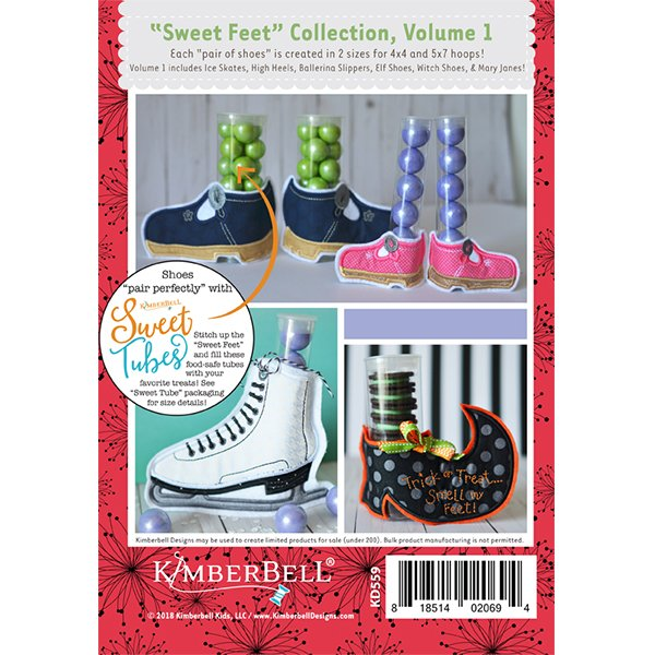 Kimberbell Designs | Sweet Feet Collection Vol. 1 - Machine Embroidery