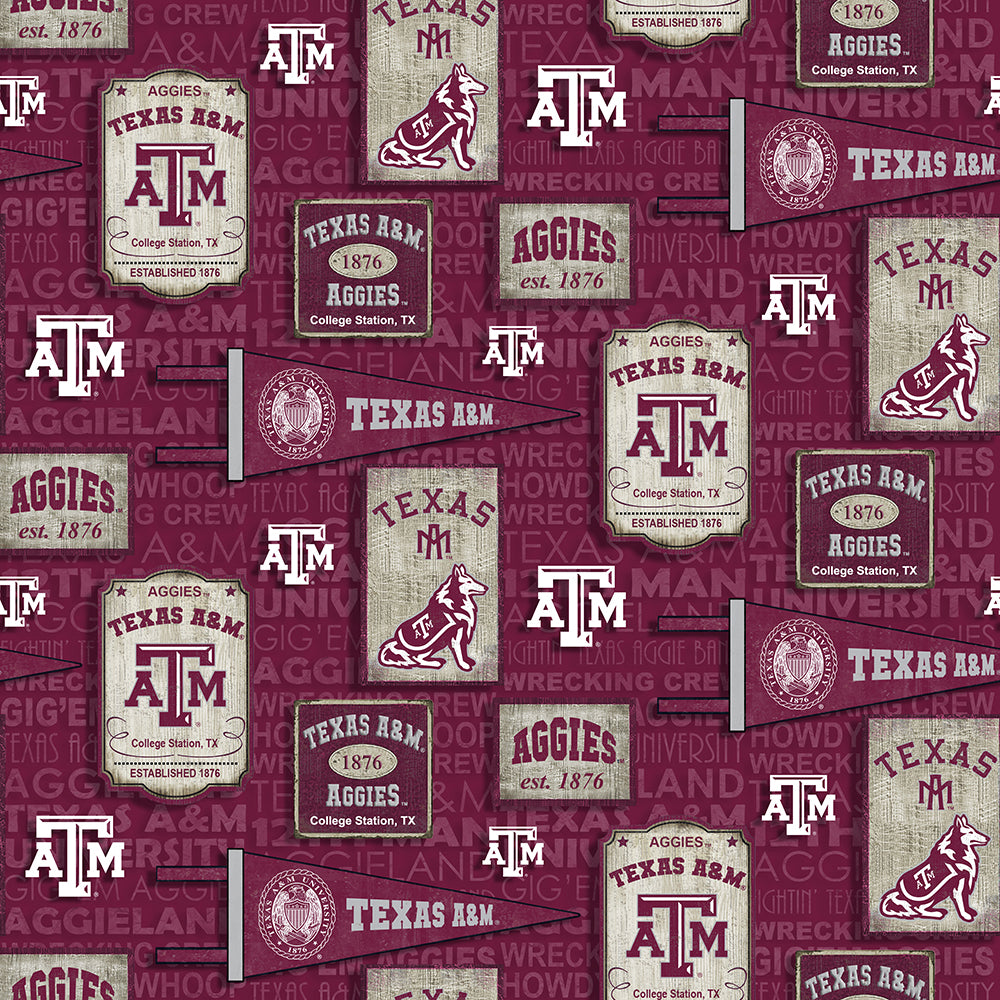 College Cotton - Texas A&M Vintage Pennant | TAM-1267