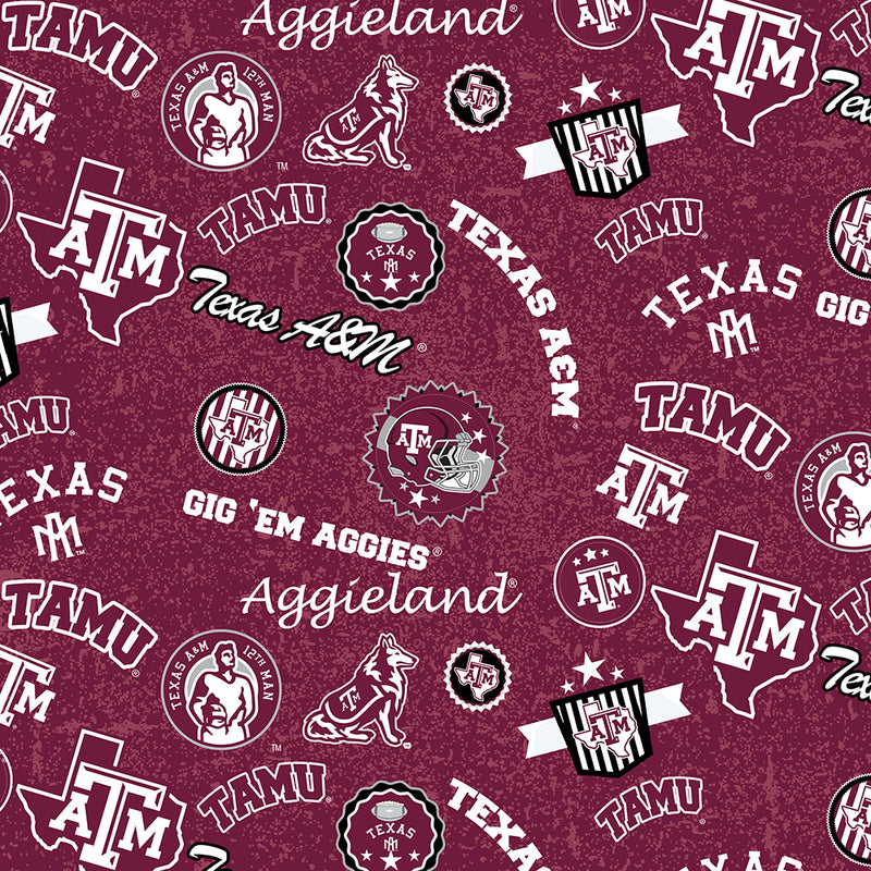College Cotton - Texas A&M Scattered Logo | TAM-1208