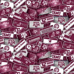 College Cotton - Texas A&M License Plate | TAM-1210