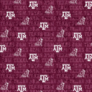College Cotton - Texas A&M Distressed | TAM-1154