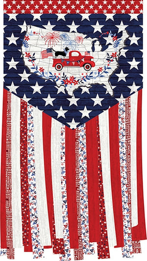 Truckin' in the USA - Panel Multi Patriotic | 4997P-78