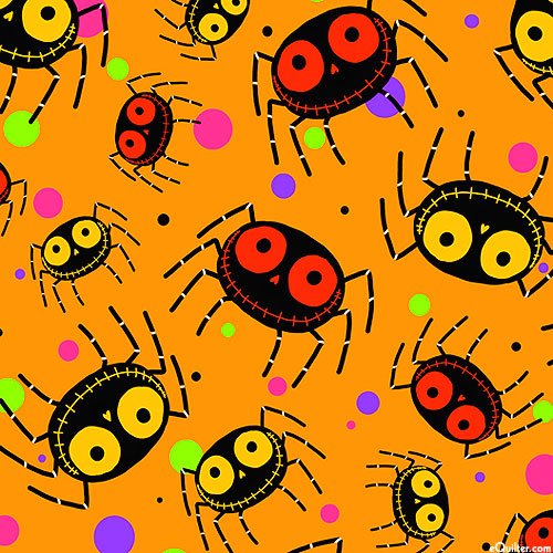 Creepy Halloweenies - Orange Spiders | 1649-27109-O