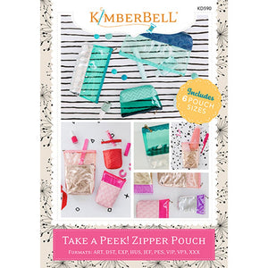 Kimberbell Designs | Take a Peek! Zipper Pouch- Machine Embroidery