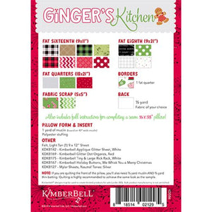 Kimberbell Designs | Ginger's Kitchen Bench Pillow - Machine Embroidery