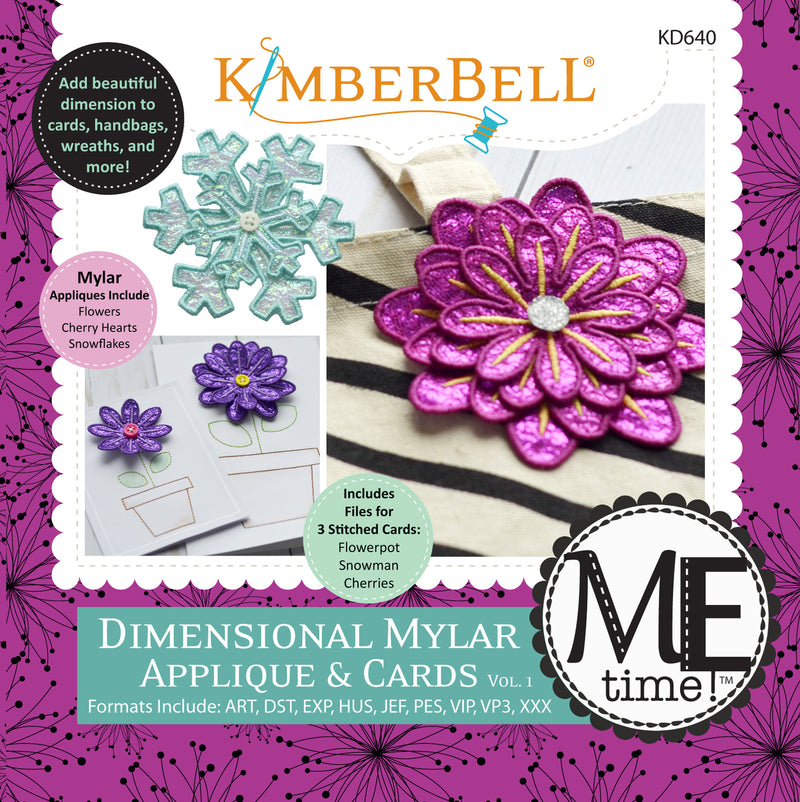Kimberbell Designs | Dimensional Mylar Applique & Cards Volume 1 - Machine Embroidery