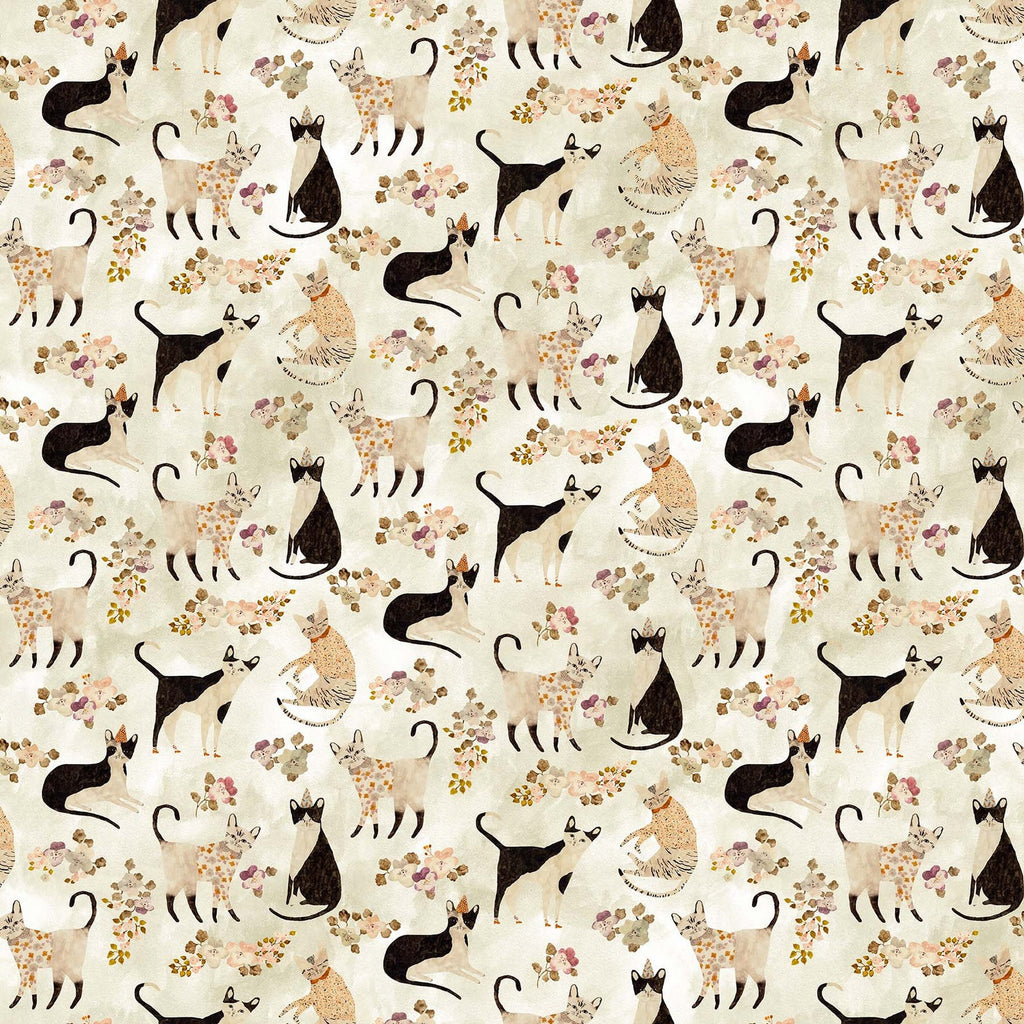 Marcel - Cats in Sweaters Cream Multi | DP90289-11