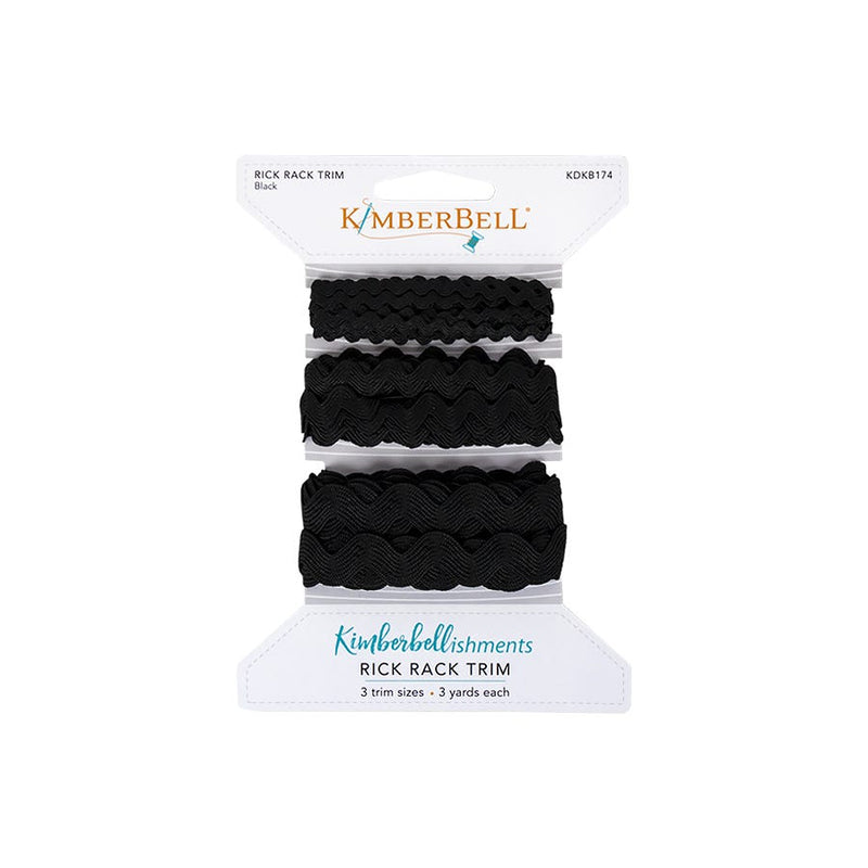 Kimberbell Designs | Rick Rack Trim - Black