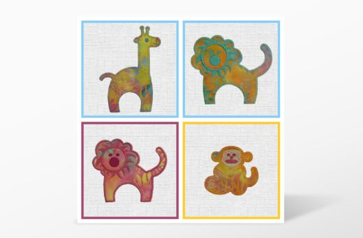 GO! Zoo Animals Embroidery Designs CD by Marjorie Busby