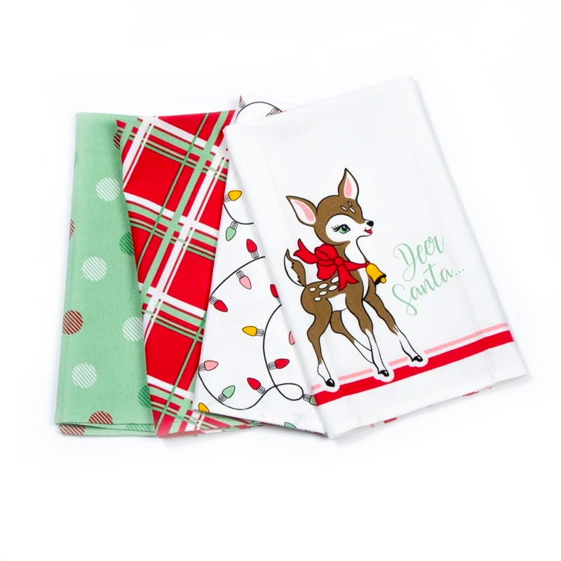 Moda | Deer Christmas - Tea Towel Set