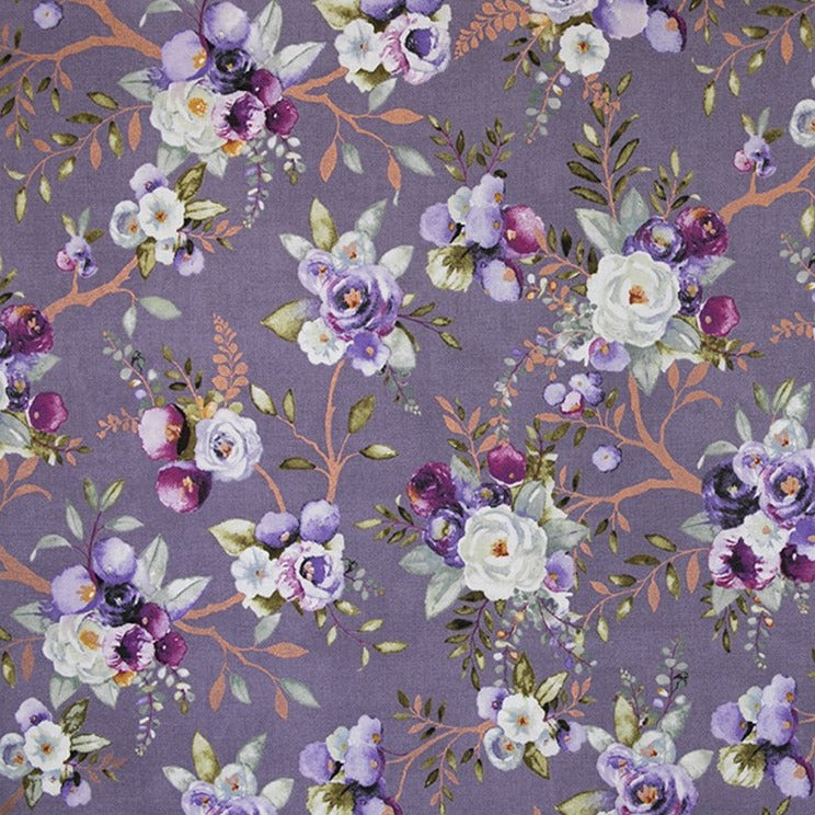 Lilac & Sage - Vines Wisteria Metallic | PS101-WI1M