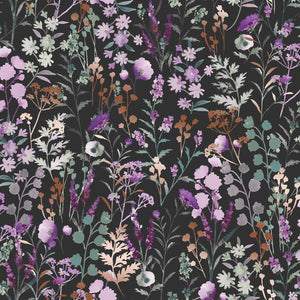 Lilac & Sage - Wildflowers Pebble Metallic | PS102-PE3M