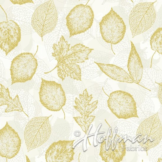 Can't Stop Falling - Leaves Natural/Gold Metallic | Q7643-20G