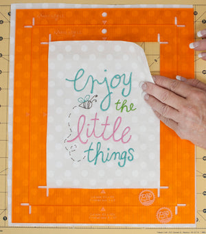 Kimberbell Designs |  Orange Pop Rulers - Rectangle Set